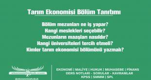 tarım ekonomisi bölümü